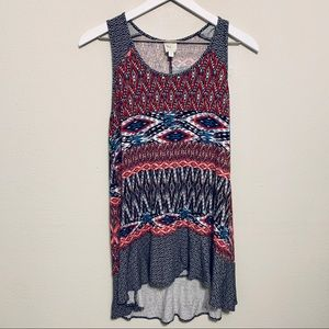 {Weston Wear} Aztec Long Tank Top